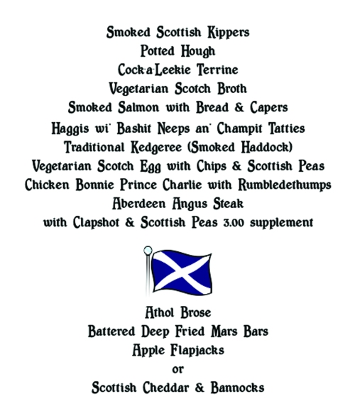 Burns Night - Saturday 25th January - Book Now!